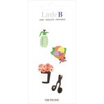 Little B - Decorative Paper Tabs - Flower Shop