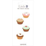 Little B - Decorative Paper Tabs - Cupcakes