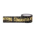 Little B - Decorative Paper Tape - Gold Foil Congratulations - 25mm