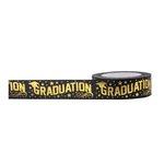 Little B - Decorative Paper Tape - Gold Foil Graduation - 15mm