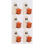 Little B - Halloween - 3 Dimensional Stickers - Mini - Trick or Treat Ghosts