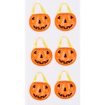 Little B - Halloween - 3 Dimensional Stickers - Mini - Pumpkin Baskets