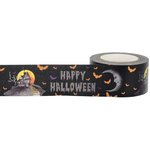 Little B - Halloween - Decorative Paper Tape - Orange Foil Happy Halloween - 25mm
