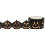Little B - Halloween - Decorative Paper Tape - Orange Foil Jack-O-Lantern Die Cut - 25mm