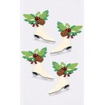 Little B - Christmas - 3 Dimensional Stickers - Mini - Christmas Ice Skates