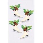 Little B - Christmas - 3 Dimensional Stickers - Mini - Christmas Ice Skates