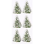 Little B - Christmas - 3 Dimensional Stickers - Mini - Snow Covered Trees