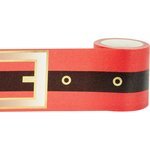 Little B - Christmas - Decorative Paper Tape - Gold Foil Santa Belt - 46mm