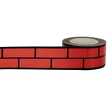 Little B - Christmas - Decorative Paper Tape - Black Foil Red Brick - 25mm
