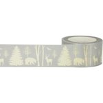 Little B - Christmas - Decorative Paper Tape - Metallic Winter Nature - 25mm
