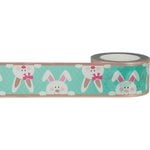 Little B - Decorative Paper Tape - Rose Gold Foil Bunnies - 25mm