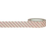 Little B - Decorative Paper Tape - Rose Gold Foil Squares - 15mm