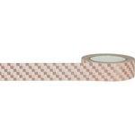 Little B - Decorative Paper Tape - Rose Gold Foil Squares - 15mm