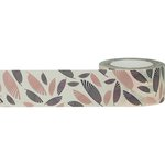 Little B - Decorative Paper Tape - Rose Gold Foil Palms - 25mm