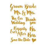 Little B - Cutting Dies - Wedding Words