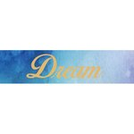 Little B - Decorative Paper Tape - Gold Foil Love Dream Hope - 25mm