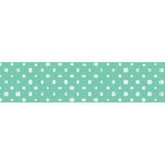Little B - Decorative Paper Tape - Mint and Silver Polka Dots - 25mm