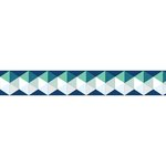 Little B - Decorative Paper Tape - Blue and Green Silver Foil Hexagons - 15mm