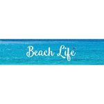 Little B - Decorative Paper Tape - Silver Foil Beach Life - 25mm