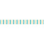 Little B - Decorative Paper Tape - Gold and Teal Foil Chevron - 10mm
