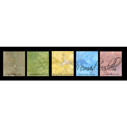 Lindy's Stamp Gang - Magical Set - Powdered Paint - Mermaid Sea Shells