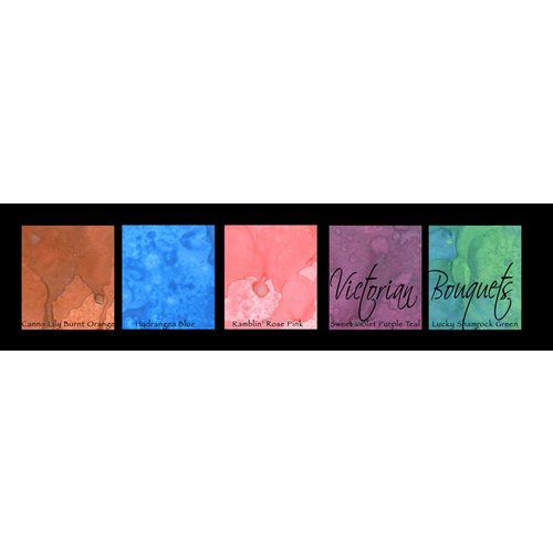 Lindy's Stamp Gang - Magical Set - Powdered Paint - Victorian Bouquet