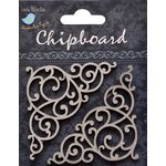 Little Birdie Crafts - Chipboard Pieces - Swirl Corners