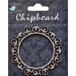 Little Birdie Crafts - Chipboard Pieces - Ornate Rounded Frame