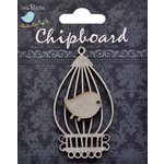 Little Birdie Crafts - Chipboard Pieces - Bird Cage with Bird