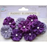 Little Birdie Crafts - Wearables Collection - Crushed Silk Rosettes - Grape Crush