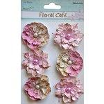 Little Birdie Crafts - Floral Cafe Collection - Linz Vintage Petals - Pink