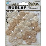 Little Birdie Crafts - Mix Media Collection - Burlap Buttercups - Natural