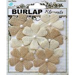 Little Birdie Crafts - Mix Media Collection - Burlap Floriana - Natural