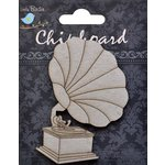 Little Birdie Crafts - Chipboard Pieces - Gramophone