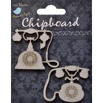 Little Birdie Crafts - Chipboard Pieces - Vintage Telephone