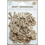 Little Birdie Crafts - Kraft Expressions Collection - 3 Dimensional Stickers - Alphabet - Uppercase - Script - Small