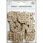Little Birdie Crafts - Kraft Expressions Collection - 3 Dimensional Stickers - Alphabet - Uppercase - Script - Large