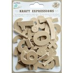 Little Birdie Crafts - Kraft Expressions Collection - 3 Dimensional Stickers - Numbers and Symbols - Plain