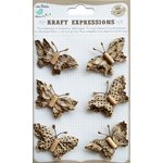 Little Birdie Crafts - Kraft Expressions Collection - Beaded Butterflies