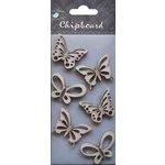 Little Birdie Crafts - Chipboard Pieces - Butterflies