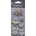 Little Birdie Crafts - Chipboard Pieces - Owls