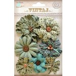 Little Birdie Crafts - Vintaj Collection - Symphony Flower - Rustic Teal