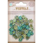 Little Birdie Crafts - Vintaj Collection - Jeweled Florettes - Micro - Rustic Teal