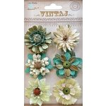 Little Birdie Crafts - Vintaj Collection - Fusion Blossoms - Rustic Teal