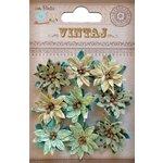 Little Birdie Crafts - Vintaj Collection - Star Flowers - Rustic Teal