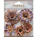 Little Birdie Crafts - Vintaj Collection - Donatella Flowers - Rustic Earth