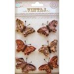 Little Birdie Crafts - Vintaj Collection - Beaded Butterflies - Rustic Tan