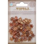 Little Birdie Crafts - Vintaj Collection - Jeweled Florettes - Micro - Rustic Earth