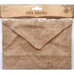 Little Birdie Crafts - Mix Media Collection - Burlap Envelope