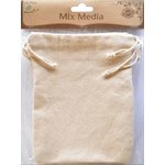 Little Birdie Crafts - Mix Media Collection - Canvas Thick Drawstring Bag